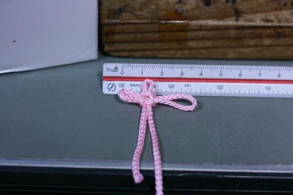 ピンクの総角結び